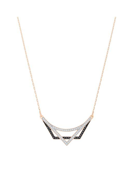 Swarovski | Metallic Geometry Necklace | Lyst