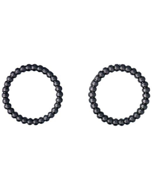 Pilgrim   Hematite Black Little Dot Earrings   Lyst