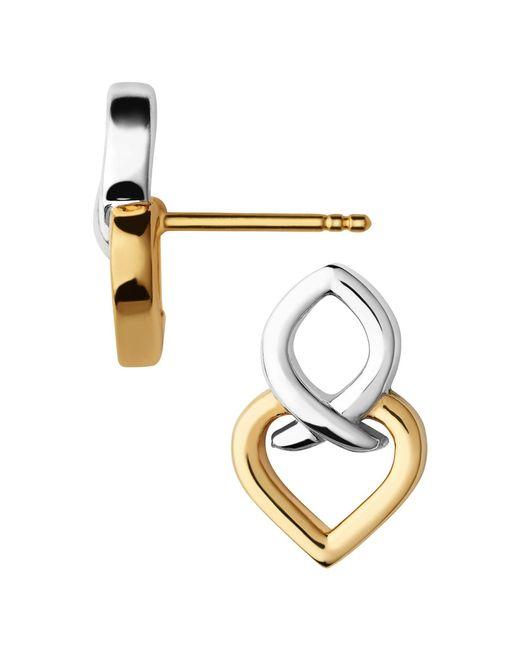 Links of London | Metallic Infinite Love Silver & Gold Earrings | Lyst