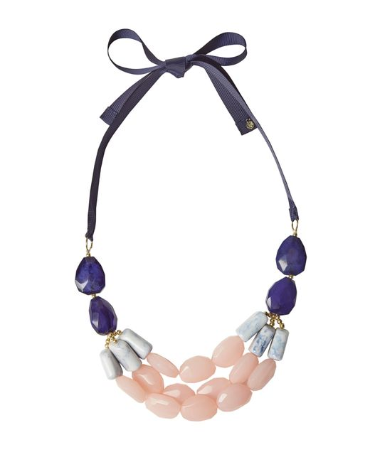 White Stuff | Blue Two Tone Statement Necklace | Lyst