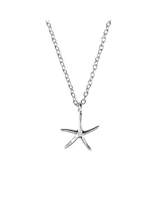 Latelita London   Metallic Petite Starfish Necklace Silver   Lyst