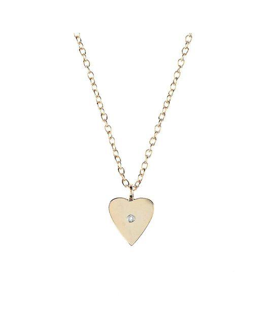 Latelita London | Metallic Heart & White Topaz Necklace Rose Gold | Lyst