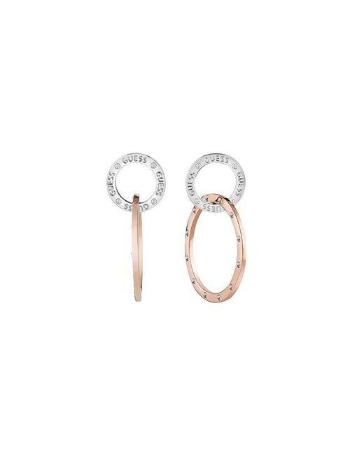 Guess | Multicolor E-motions Ube83118 Circle Hoop Earrings | Lyst