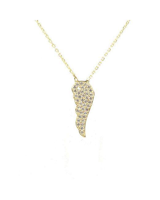 Latelita London   Metallic Petite Angel Wing Necklace Gold   Lyst
