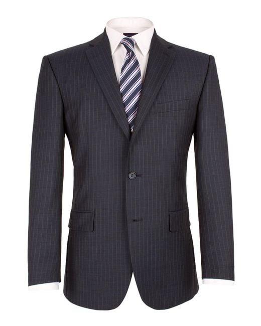 Pierre Cardin - Blue Sharkskin Stripe Jacket for Men - Lyst
