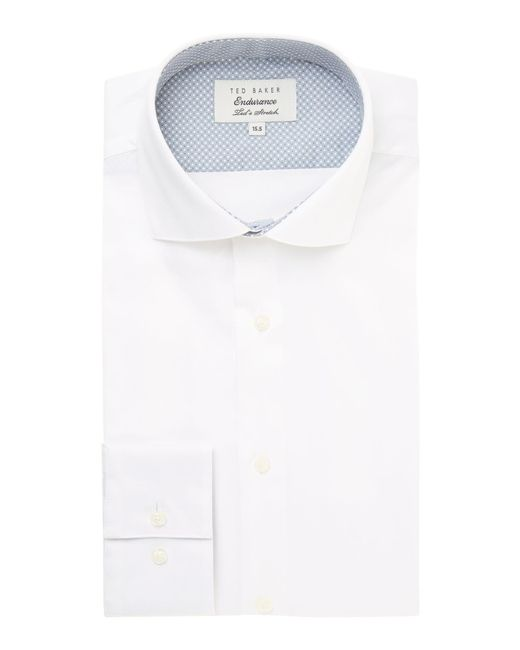 Ted Baker - White Rosest Slim Fit Plain Poplin Shirt for Men - Lyst