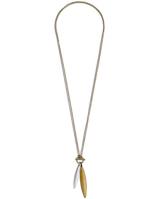 Pilgrim   Metallic Luna Gold Plated Necklace   Lyst