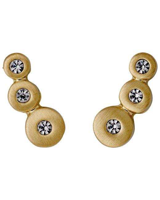 Pilgrim | Metallic Bella Gold Plated White Earrings | Lyst