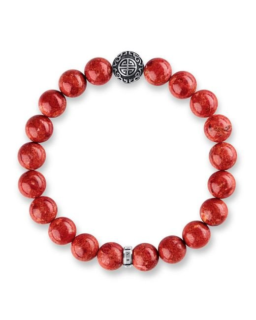 Thomas Sabo | Rebel At Heart Mala Red Coral Bracelet | Lyst