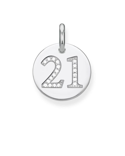Thomas Sabo | Multicolor Love Coin Lucky Number 21 Heart Pendant | Lyst