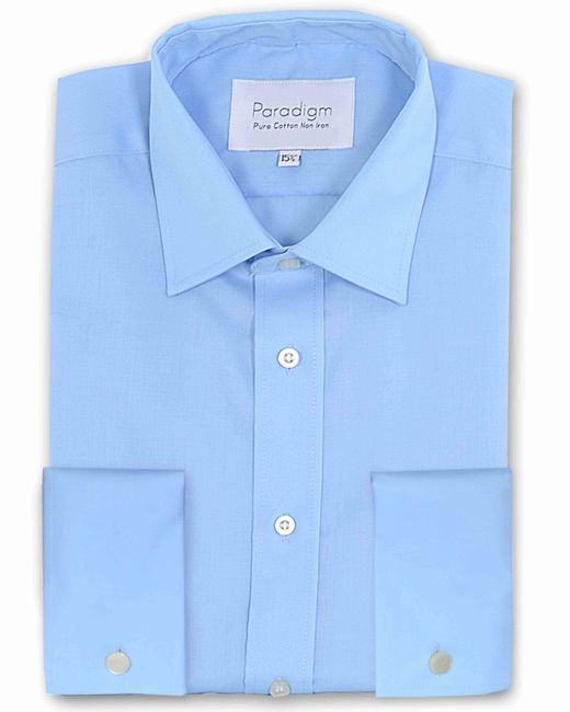 Double Two - Blue Paradigm King Size Double Cuff Pure Cotton Shirt for Men - Lyst