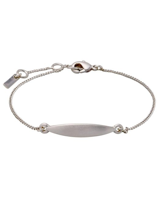 Pilgrim - Metallic Fine Silver Plated Bracelet - Lyst