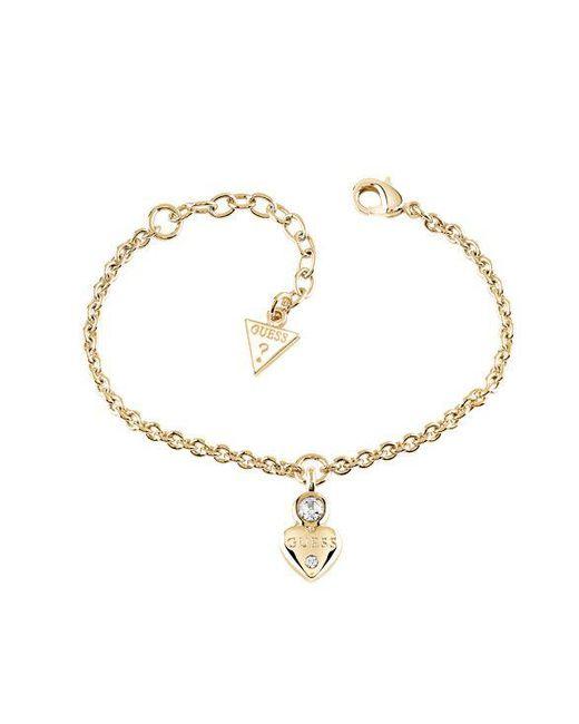 Guess | Metallic Y Little Heart Charm Bracelet | Lyst