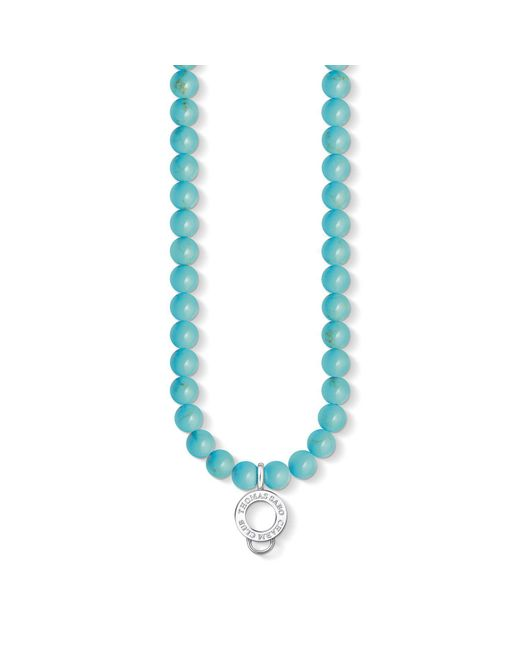 Thomas Sabo - Blue Charm Club Turquoise Beaded Charm Necklace - Lyst