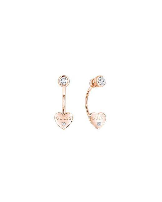 Guess | Metallic Y Little Heart Jacket Stud Earrings | Lyst