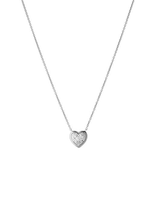 Links of London | Metallic Diamond Essentials Pave Heart Necklace | Lyst