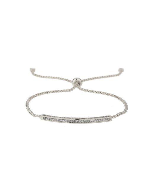 Mikey | White Id Crystal Bracelet Self Tie Up Bracelet | Lyst