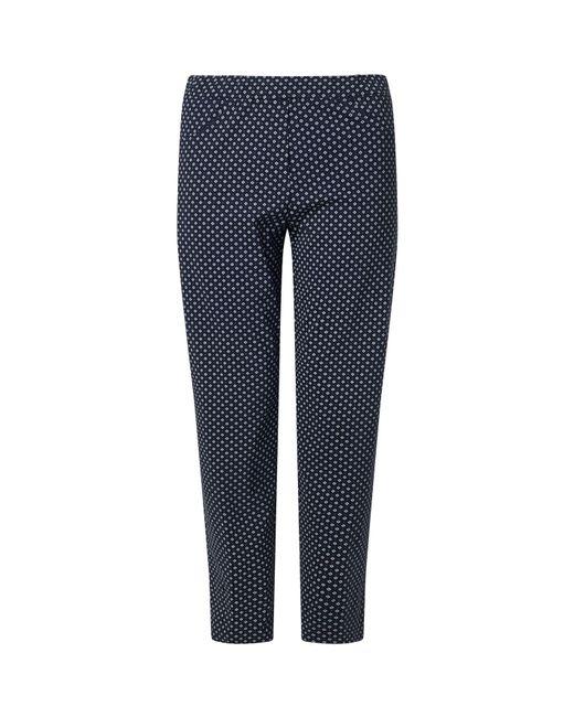 James Lakeland Blue Long Patterened Trousers