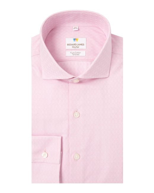 Richard James | Ls Sc Pink Diamond Cross Shirt for Men | Lyst