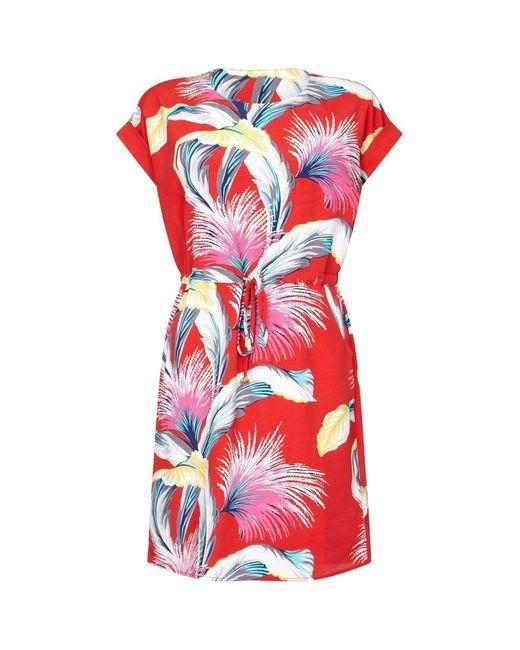 Yumi' Red Drawstring Dress