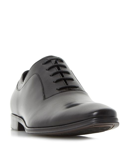 Dune | Black Rancho Embossed Detail Oxford Shoes for Men | Lyst