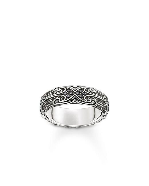Thomas Sabo | Black Rebel At Heart Maori Ring Band | Lyst