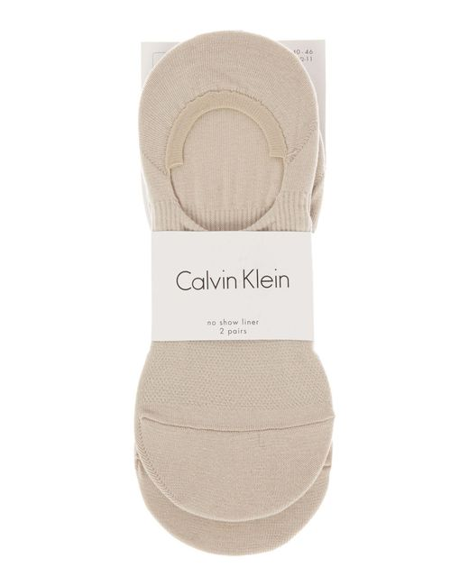 Calvin Klein | Natural 2 Pack No Show Trainer Liner | Lyst