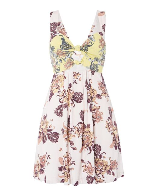 Free People - Multicolor Baby It`s You Printed Mini Dress - Lyst