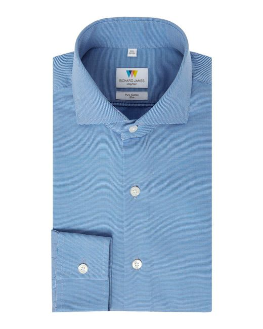 Richard James - Blue Ottoman Slim Fit Shirt for Men - Lyst