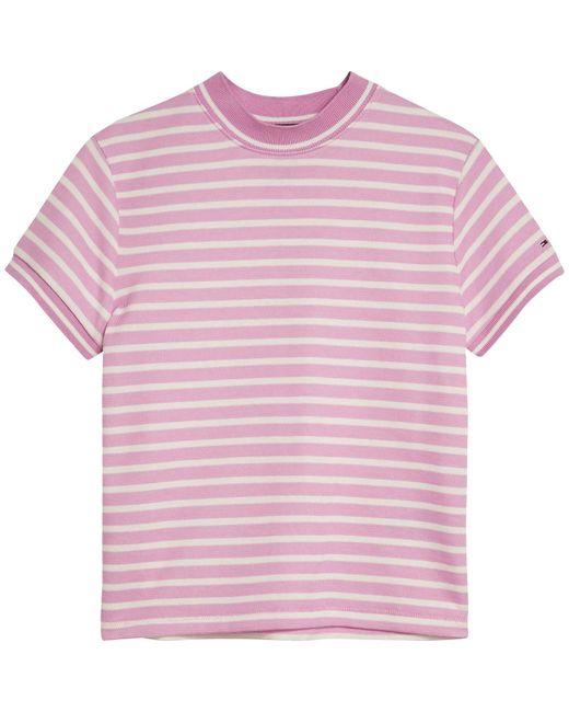 Tommy Hilfiger Purple Double Stripe T-shirt
