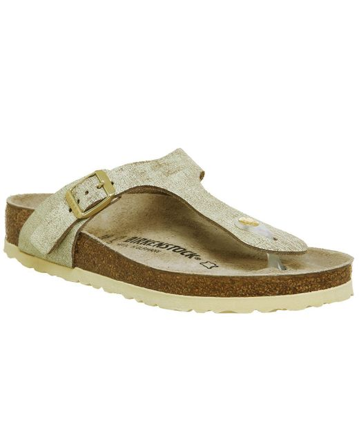 c5fd220f229c Birkenstock Toe Thong Footbed Sandals in Green - Lyst
