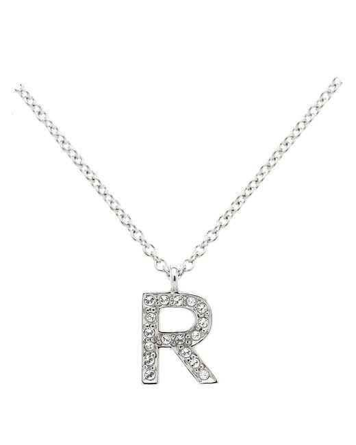 Melissa Odabash | Metallic Rhodium Crystal Letter R Pendant | Lyst