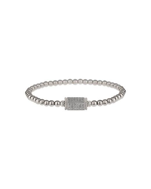 Mikey - Metallic Fine Cubic Cylinder Elastic Bracelet - Lyst