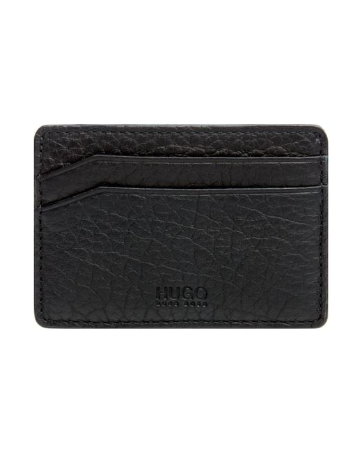 BOSS | Black Wt Hugo Victorian Grainy Leather Card Holder for Men | Lyst