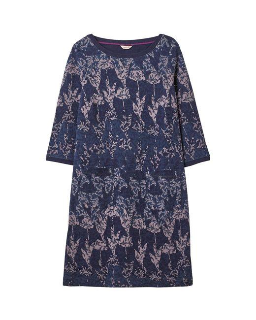White Stuff Purple Lucia Jacquard Dress