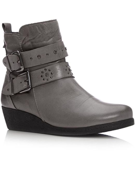 Moda In Pelle Gray Afonso Medium Casual Short Boots