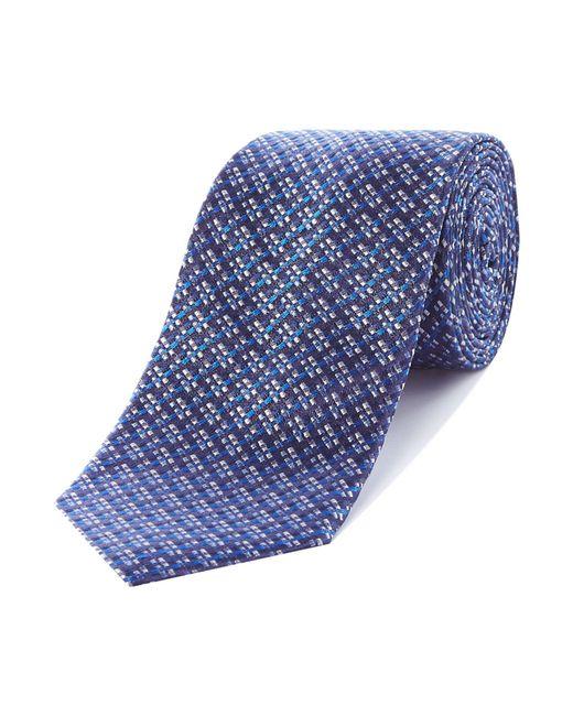 Richard James - Blue Dobby Silk Tie for Men - Lyst