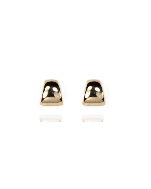 Anne Klein | Metallic Peirced Button Post Earrings | Lyst