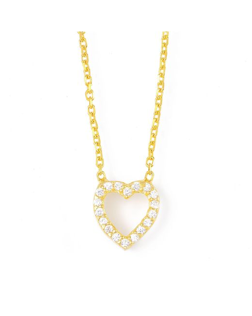 Lucky Eyes   Metallic Gold Frame Heart Necklace   Lyst