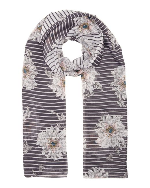 Joules | Gray Harmony Floral Scarf | Lyst