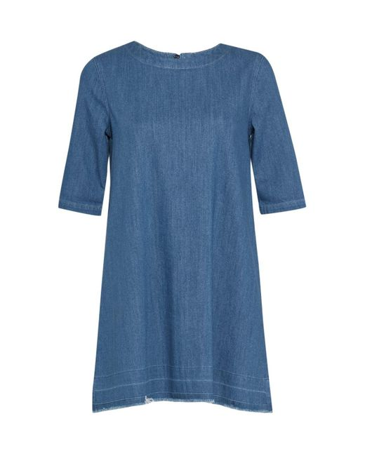 French Connection - Blue Evelyn Denim T-shirt Dress - Lyst