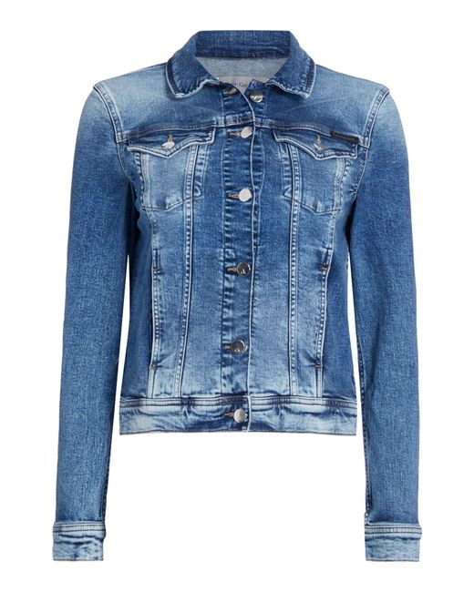 Calvin Klein | Blue Long Sleeves Denim Jackit With Front Pockets | Lyst