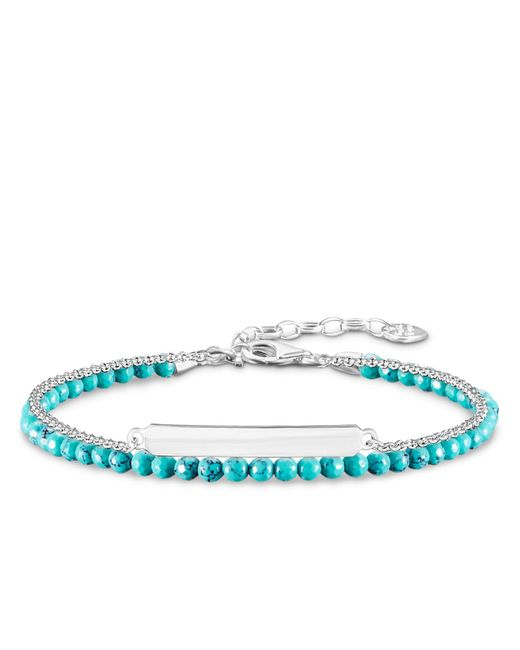 Thomas Sabo | Blue Love Bridge Turquoise Double Bracelet | Lyst