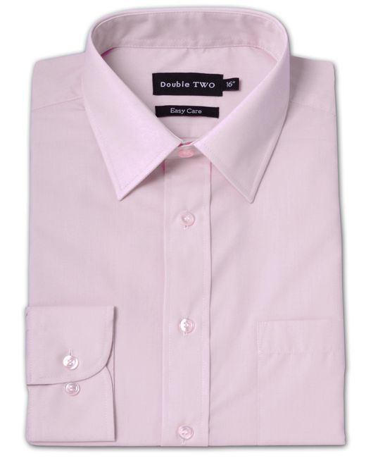 Double Two | Pink Long Sleeve Classic Plain Cotton Blend Shirt for Men | Lyst