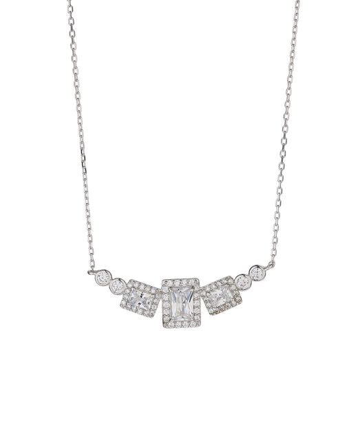 Mikey - Metallic Sterling Silver 925 Square Pendant - Lyst