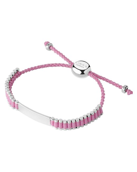 Links of London - Sterling Silver & Pink Cord Baby Friendship Id Br - Lyst