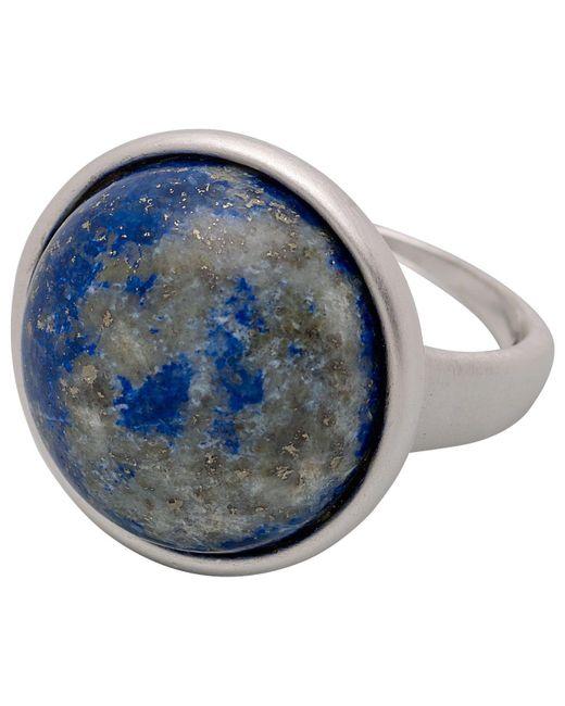 Pilgrim - Metallic Silver Plated Swirly Blue Ring - Lyst