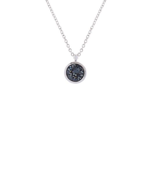 Karen Millen - Metallic Silver & Grey Crystal Dot Necklace - Lyst