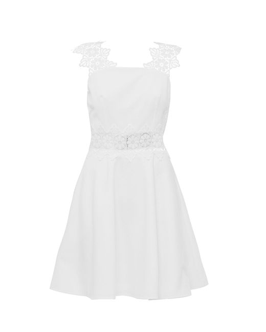 Ted Baker | White Monaa Lace Detail A Line Shift Dress | Lyst
