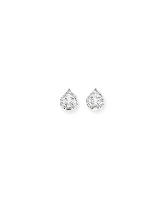 Thomas Sabo | Metallic Purity Of Lotos White Drop Ear Studs | Lyst